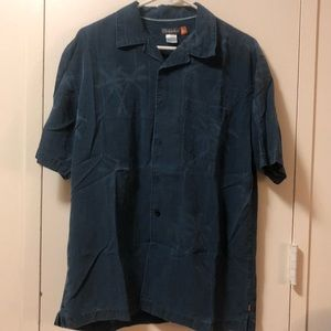 Men's Quicksilver short sleeve collared shirt